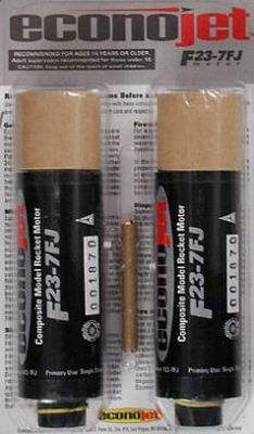 Aerotech F23-7FJ Econojet Single Use Rocket Motor 2 Pack