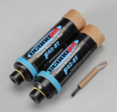 Aerotech F42-8T Econojet Single Use Rocket Motor 2 Pack