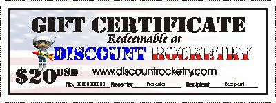 Discount Rocketry Gift Certificate