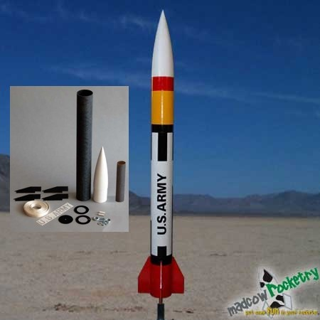 Mad Cow Rocketry 2.6 in Patriot Kit
