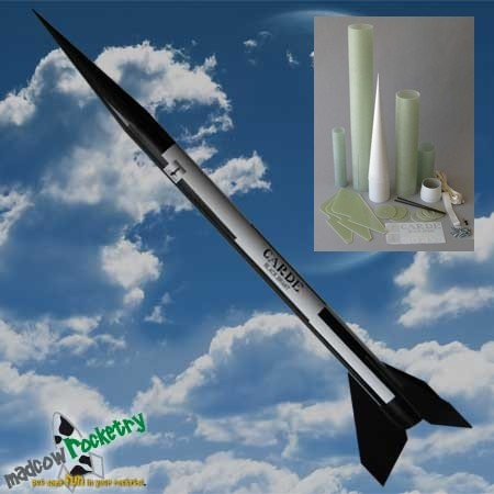 Mad Cow Rocketry 4.0in Black Brant II Rocket Kit