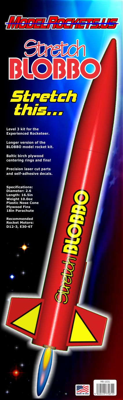 ModelRockets us Stretch BLOBBO Model Rocket Kit, Discount
