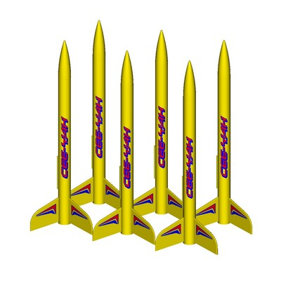 ModelRockets.us Ceeyah Bulk Pack of 6 Rocket Kits