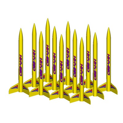 ModelRockets.us Ceeyah Bulk Pack of 12 Rocket Kits