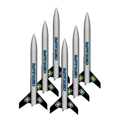 ModelRockets.us Centauri Bulk Pack of 6 Rocket Kits