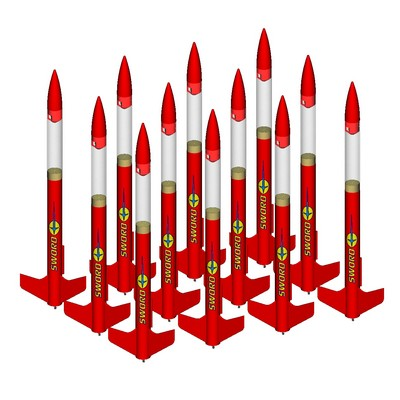 ModelRockets.us Sword Bulk Pack of 12 Rocket Kits