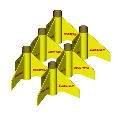 ModelRockets.us Boostar-D Bulk Pack of 6 Rocket Staging Kits