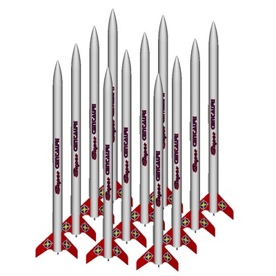 ModelRockets.us Super Centauri Bulk Pack of 12 Rocket Kits
