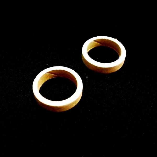 ModelRockets.us BT-20 to BT-50 Fiber Thrust or Centering Ring 2 Pack