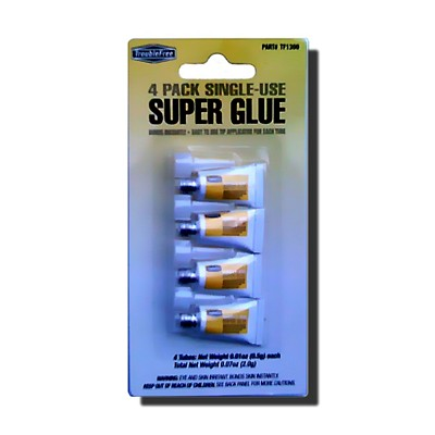 Super Glue Cyanoacrylate Single Use 4 Pack