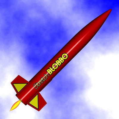 ModelRockets.us Stretch BLOBBO Model Rocket Kit